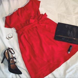 Forever 21 Red Strapless Cocktail Dress